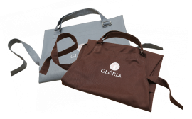 Apron GLORIA SET grey + brown